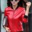 เสื้อแจ็คเก็ต เสื้อหนังแฟชั่น พร้อมส่ง สีแดง หนัง PU คุณภาพงานพรีเมี่ยม งานเหมือนแบบ 100 % ค่ะ แขนยาว จั้มช่วงเอวและแขนเสื้อ ซิบหน้า มีซับใน สุดเท่ห์สุดๆ หนังนิ่ม ใส่สบาย thumbnail 2