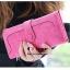 กระเป๋าสตางค์ YADAS พร้อมส่ง สีชมพู แต่งคาดกระดุมแป๊กเก๋ๆ ทรงเรียบหรู ใบยาว DESIGN สุดเก๋ ไฮโซมากๆ thumbnail 2