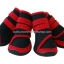 รองเท้าสุนัขโต สีแดง-ดำ ลายรัดคอเท้า (4 ข้าง) thumbnail 1