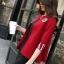 เสื้อคลุมไหมพรม พร้อมส่ง สีแดง แขนสามส่วน แต่งสกรีนลายภาษาอังกฤษ ที่แขนสุดเท่ห์ thumbnail 3