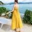 ชุดเดรสยาว MAXIDRESS พร้อมส่ง สีเหลือง ลายดอกไม้น่ารัก สายเดี่ยว ผ้าชีฟอง เนื้อผ้านิ่มดีมากๆ ใส่สบาย thumbnail 7