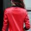 เสื้อแจ็คเก็ต เสื้อหนังแฟชั่น พร้อมส่ง สีแดง หนัง PU คุณภาพงานพรีเมี่ยม งานเหมือนแบบ 100 % ค่ะ แขนยาว จั้มช่วงเอวและแขนเสื้อ ซิบหน้า มีซับใน สุดเท่ห์สุดๆ หนังนิ่ม ใส่สบาย thumbnail 4