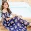 MAXI DRESS ชุดเดรสยาว พร้อมส่ง สีกรม ลายดอกกุหลาบสีชมพูหวาน น่ารักมากๆค่ะ thumbnail 4