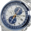 Seiko Men's SNDF87P1 Chronograph White and Blue Dial Stainless Steel Watch thumbnail 2