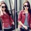 เสื้อแจ็คเก็ต สีแดง คอจีน พร้อมส่ง ดีเทลด้วยปกโฉบเฉี่ยว แต่งกระเป๋าหลอกด้วยซิบรูด สุดเท่ห์ thumbnail 5
