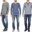 Esprit Men's Henley Button Front Long Sleeve T-Shirt thumbnail 3