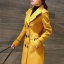 เสื้อโค้ทกันหนาว สีเหลือง พร้อมส่ง เนื้อหนามีซับใน ใส่แล้วอุ่นมากๆค่ะเ นื้อผ้าwoolen เหมาะสำหรับใส่เดินทางไปต่างประเทศ thumbnail 5
