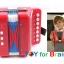 Mini Accordion For Kids - Red แอคคอร์ดเดียนสำหรับเด็ก thumbnail 4