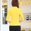 เสื้อสูทแฟชั่น พร้อมส่ง สีเหลือง แขนสามส่วน แต่งเว้าช่วงคอ คอวีลึกติดกระดุมเม็ดเดียว ไหล่ยกนิดๆ เข้ารูปช่วงเอว thumbnail 6