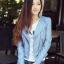 เสื้อแจ็คเก็ต เสื้อหนังแฟชั่น พร้อมส่ง สีฟ้า หนังด้าน มาดเซอร์ คอจีน ดีเทลด้วยปกโฉบเฉี่ยว สุดเท่ห์ thumbnail 1