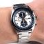 Seiko Men's SNDF87P1 Chronograph White and Blue Dial Stainless Steel Watch thumbnail 4