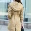 เสื้อโค้ท เสื้อกันหนาว พร้อมส่ง สีกากี แต่งหัวไหล่เก๋ ตัวยาวคลุมสะโพก แบบซิบรูดเก๋ มีฮูทเท่ห์สุดๆ thumbnail 2