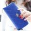 กระเป๋าสตางค์แฟชั่น YADAS พร้อมส่ง สีน้ำเงิน ด้านในสีน้ำเงิน ใบยาว DESIGN สุดเก๋ ลายตาราง ปิดเปิดด้วยซิบรูด สวยหรู thumbnail 3