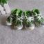 รองเท้าสุนัข รองเท้าแมว แบบผ้าใบ สีเขียว (4 ข้าง) thumbnail 1