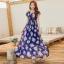 MAXI DRESS ชุดเดรสยาว พร้อมส่ง สีกรม ลายดอกกุหลาบสีชมพูหวาน น่ารักมากๆค่ะ thumbnail 2