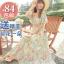 MAXI DRESS ชุดเดรสยาว พร้อมส่ง ผ้าชีฟอง ลายดอกไม้ โทนเขียว สวยมาก thumbnail 5
