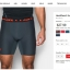 """UNDER ARMOUR HeatGear II Armour Mid Compression 6"""" Inseam thumbnail 14"""