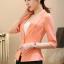 เสื้อสูทแฟชั่น เสื้อสูทสำหรับผู้หญิง พร้อมส่ง สีส้ม ผ้าโพลีเอสเตอร์ คอตตอน 100 % เนื้อดี คุณภาพงานพรีเมี่ยม งานตัดเย็บเนี๊ยบ ไม่มีซับในระบายอากาศได้ค่ะ thumbnail 6