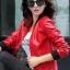 เสื้อแจ็คเก็ต เสื้อหนังแฟชั่น พร้อมส่ง สีแดง หนัง PU คุณภาพงานพรีเมี่ยม งานเหมือนแบบ 100 % ค่ะ แขนยาว จั้มช่วงเอวและแขนเสื้อ ซิบหน้า มีซับใน สุดเท่ห์สุดๆ หนังนิ่ม ใส่สบาย thumbnail 3