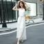 MAXI DRESS ชุดเดรสยาว พร้อมส่ง สีขาว แขนกุด ผ้าลูกไม้เนื้อนิ่ม ใส่สบาย ลวดลายสวยหวาน ใส่ออกงานได้ มาพร้อมเข็มขัดเข้าชุด งานสวยเหมือนแบบเป๊ะเลยจ้า thumbnail 7