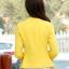 เสื้อคลุมแฟชั่น พร้อมส่ง สีเหลือง แต่งด้วยปกโฉบเฉี่ยวยอดนิยม ดีเทลปลายแขนด้วยซิบรูดสุดเท่ห์ แต่งกระเป๋าหลอกเก๋ thumbnail 6