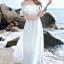 MAXI DRESS ชุดเดรสยาว พร้อมส่ง สีขาว ผ้าชีฟองเนื้อผ้าวิ้งๆ สวยมากๆค่ะ ดีเทลระบายเป็นชั้นช่วงคอเสื้อ กระโปรงบานพริ้วๆ ใส่ได้ 2 แบบ ค่ะ จะใส่แบบเปิดไหล่ น่ารักๆ หรือ ใส่แบบเกาะอกเซ็กซี่เบาๆ ก็ได้ค่ะ มีซับใน เอวยางยืด (สินค้าไม่รวมเข็มขัดค่ะ) thumbnail 3