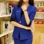 (พร้อมส่ง M,L,XL)ชุดสูททำงาน เซ็ตคู่ เสื้อสูทสีน้ำเงินแต่งขริบสีดำข้างเดียวเก๋ ดีเทลแขนพับสุดเท่ห์ คอวีลึกติดกระดุมเม็ดเดียว กระโปรงทรงเอ สีน้ำเงินมีซิบรูดด้านหลัง thumbnail 5