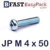 สกรูมิลสี่แฉก JP M 4 x 50 (20 ตัว/ถุง)