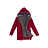 Cyber Casual Ladies' Thicken Warmer Hoodies Coat Outerwear Jacket(Red)