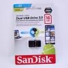 SANDISK แฟลชไดร์ฟ 2 หัว DUO USB กับ Micro USB 16GB ของแท้ ประกันศูนย์ synnex