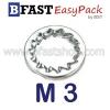 แหวนจักรถึ่ใน M3 ( ตัว/ถุง)