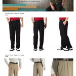 Haggar Cool 18 Pleated-Front Expandable Waist Pants ( แบบมีจีบ )