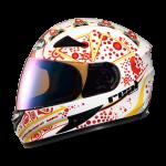 หมวกกันน๊อค Real Hornet GP Racer สีขาวแดง