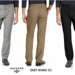 DOCKER Easy Khaki D1 Slim Fit