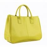 [ พร้อมส่ง ] - กระเป๋าแฟชั่น นำเข้าสไตล์เกาหลี สีเขียวมะนาว ดีไซน์เรียบหรู น้ำหนักเบา ช่องใส่ของเยอะ เหมาะกับทุกโอกาส