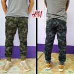 H&M CAMO JOGGER PANTS