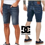 DC WASHED STRAIGHT DENIM SHORTS