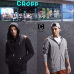 CROPP HOODE JOGGING TOP JACKET