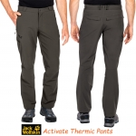 JACK WOLFSKINS ACTIVATE THERMIC SOFTSHELL PANTS