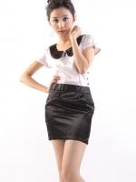 DRESS ชุดเดรสแฟชั่นแขนสั้น ใส่ทำงาน สีชมพู - ดำ คอตุ๊กตาเกาหลี กระเป๋าข้าง สาวหวาน น่ารักมากๆ ค่ะ ASIA STREET FASHION