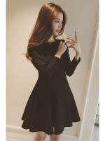 Korea New Style Slim Black One-piece Women - Dresses