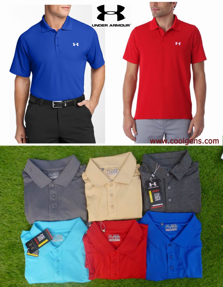 Under Armour Heatgear Playoff Polo ( แบบสีพื้น )