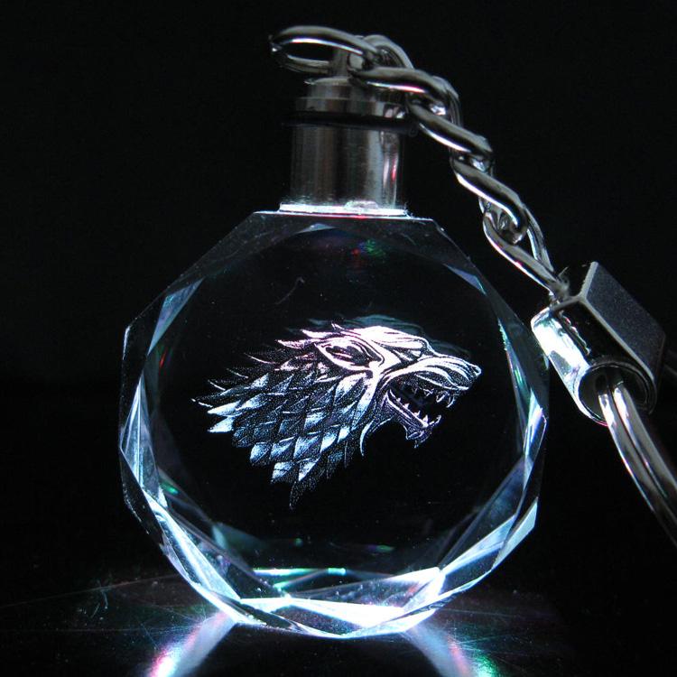 Preorder พวงกุญแจไฟคริสตัล Game of Thrones stark
