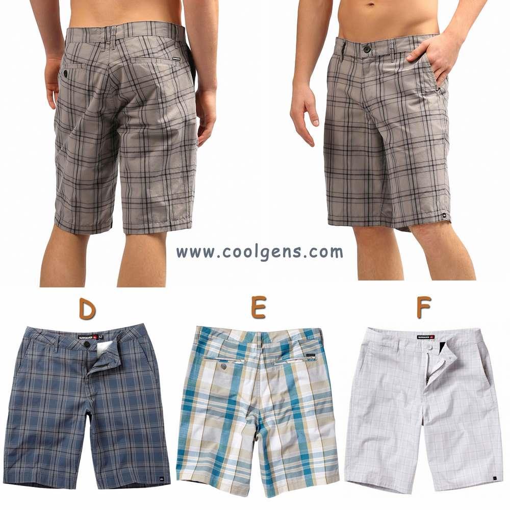 Quiksilver Plaid Shorts ( มี 12 ลาย คละ หลายรุ่น )