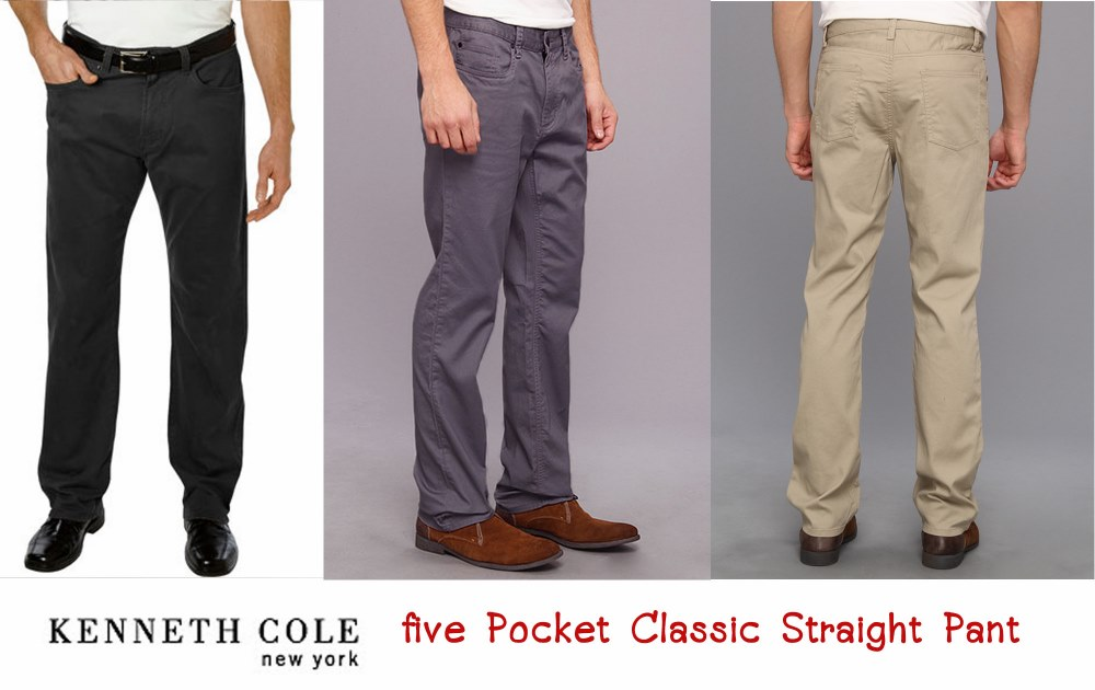 KENNETH COLE FIVE POCKET CLASSIC STRAIGHT PANT
