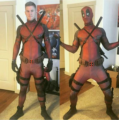 Preorder ชุดคอส Deadpool tights