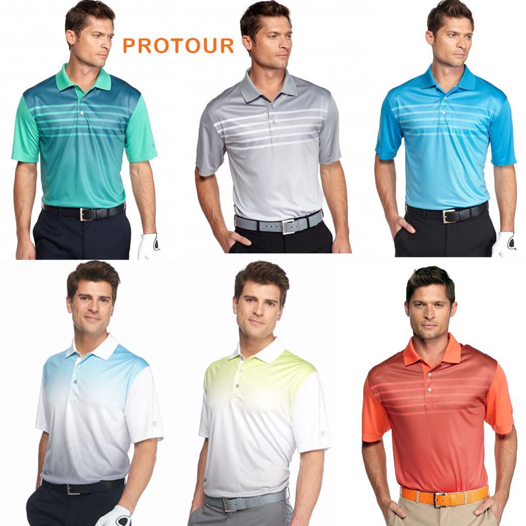 PRO TOUR Front Linear Gradient Polo Shirt