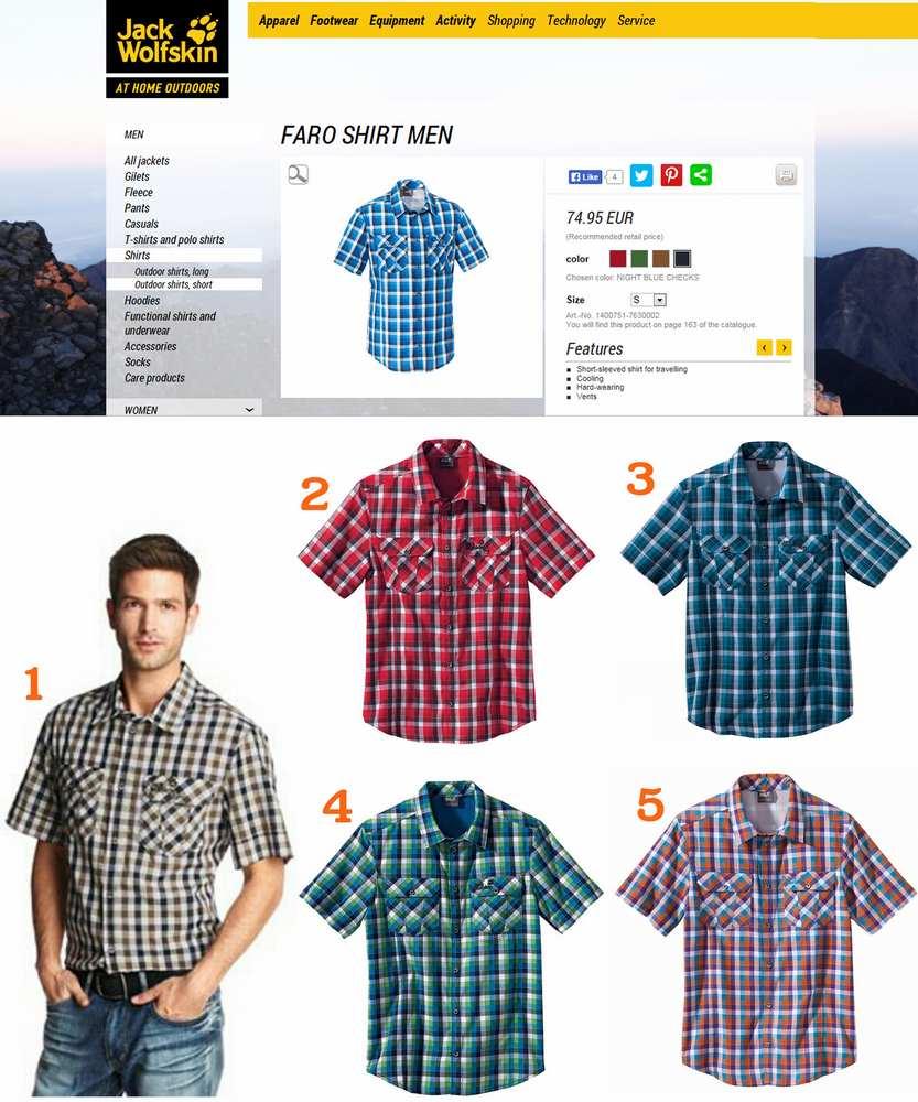 Jack Wolfskins Faro Shirt