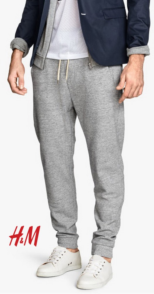 H&M TEXTURED SWEATPANTS