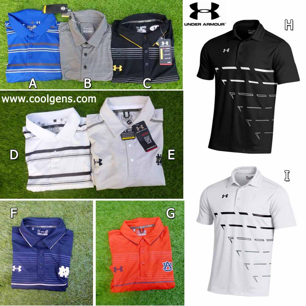 Under Armour Heatgear Playoff Polo ( แบบมีลาย )